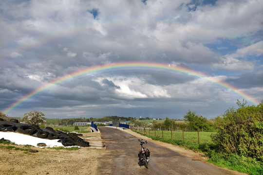 Chasing rainbows by bike