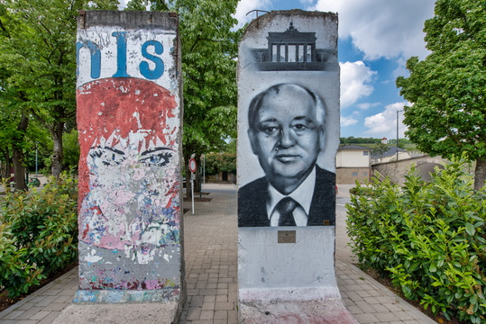 Berlin wall in Schengen
