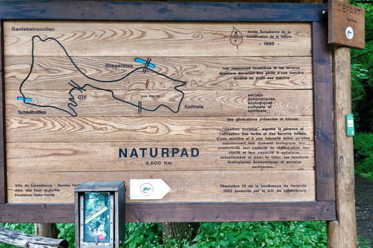 Naturpad map near Itegerstee