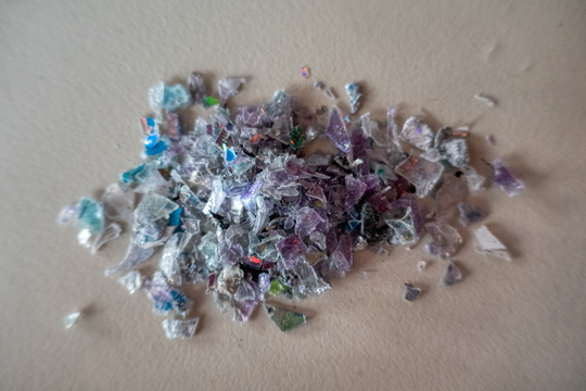 Shredded optical media