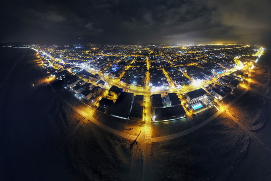 Castelldefels night panorama