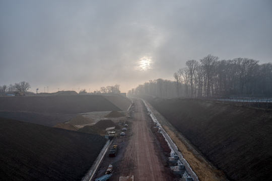 New railroad between Luxembourg and Bettembourg construction wor