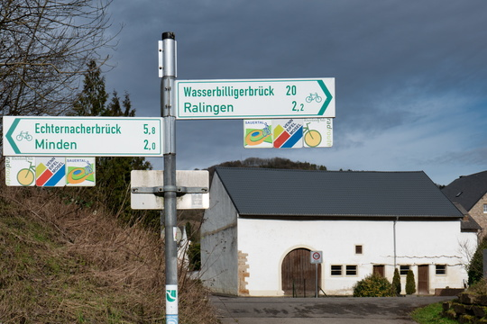 Cycling directions in Edingen