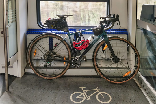 Bike in the train