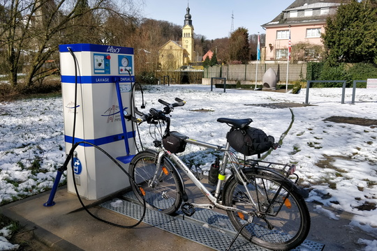 Bike wash station in Hesper Park