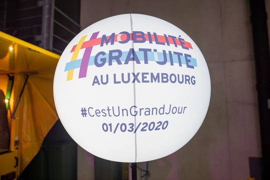 Free Mobility in Luxembourg celebration