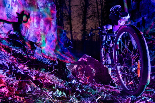 Bike light painting