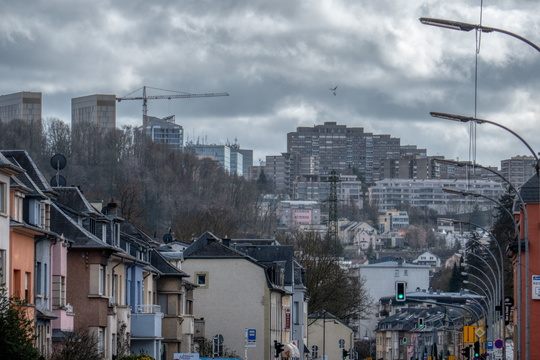 The street where Luxembourg looks like a Megalopolis