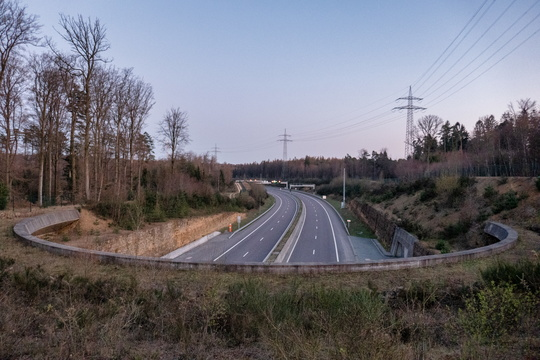 Empty motorway Noordstrooss during lockdown