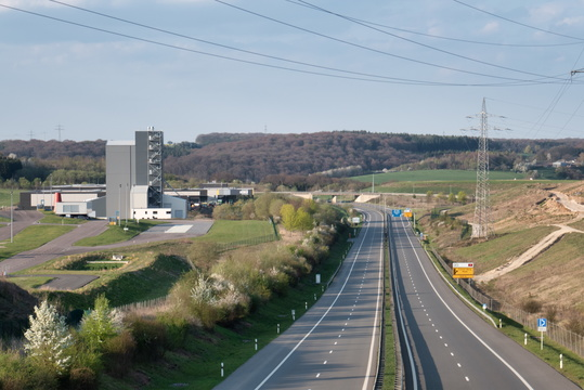 Empty Noordstrooss motorway near Bissen