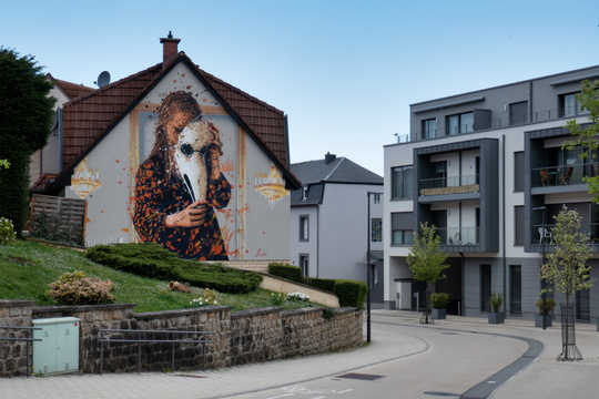 Mural on house in Bettembourg