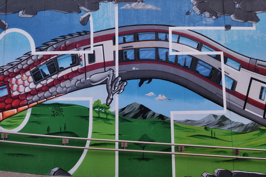 The mural of Mersch underpass