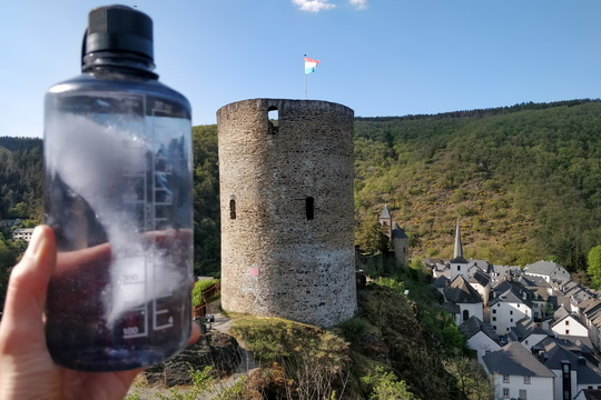 Fresh water refill at Esch-sur-Sûre