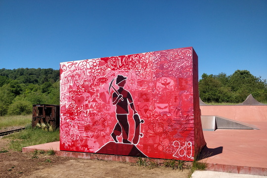 Painted skatepark in the Land of the Red Rocks