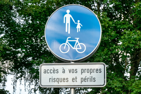 The dangerous piste cyclable de la Wiltz