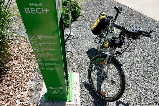 Bike station at Becher Gare