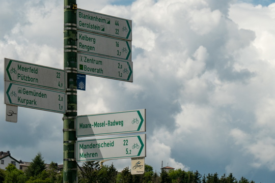Cycling directions near Daun