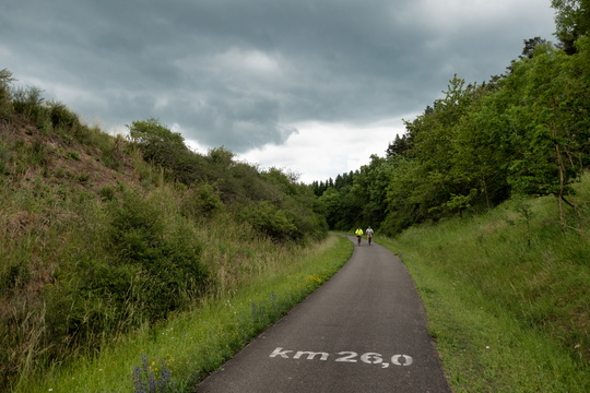 Kilometre 26 of the Maare-Mosel-Radweg