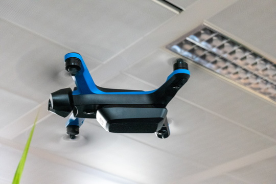 A drone in the office