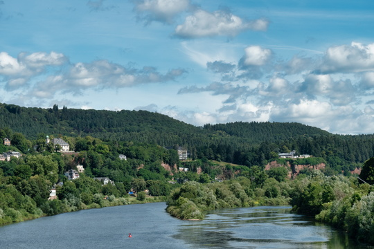 The Moselle river from Römerbrücke in Trier
