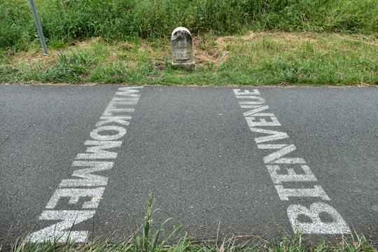 France-Germany border on the cycleway