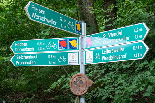 Cycling directions near Dörrenbach