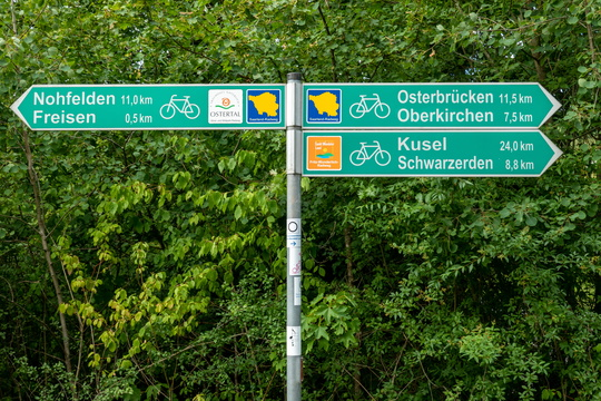 Cycling directions in Freisen