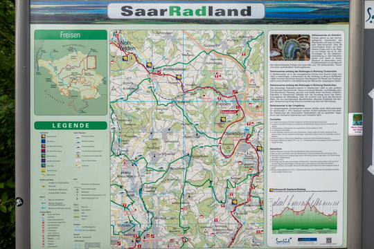 Cycling map near Freisen
