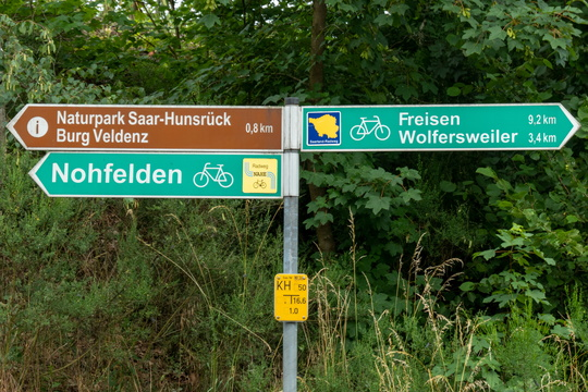 Where I left the Nahe-Radweg to join the Saarland-Radweg