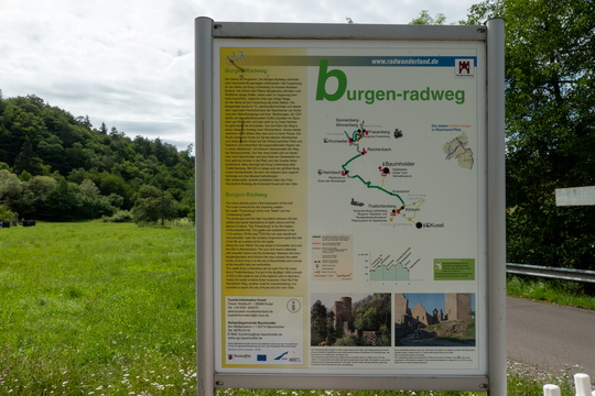 Burgegn-Radweg map and information board