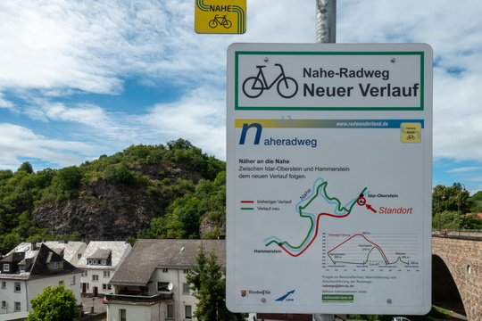Nahe-Radweg alternative way in Oberstein