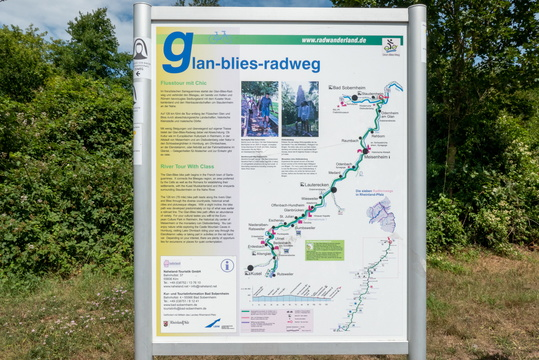 Glan-Blies-Radweg information board and map