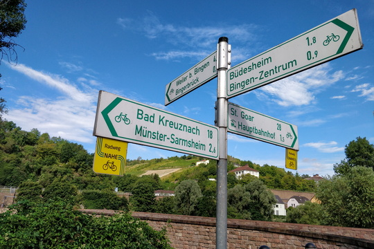 Cycling directions in Bingerbrück