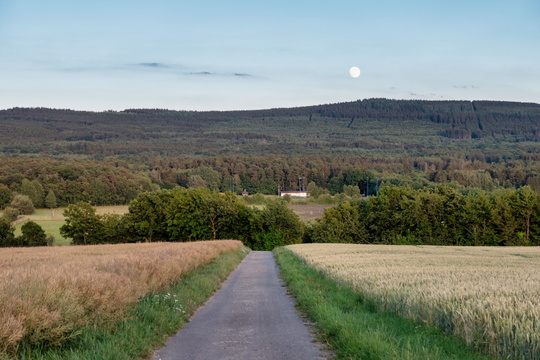 Moonrise in the Hunsrück