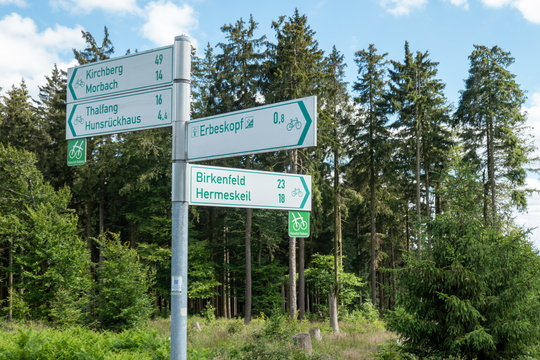 Cycling directions near Erbeskopf