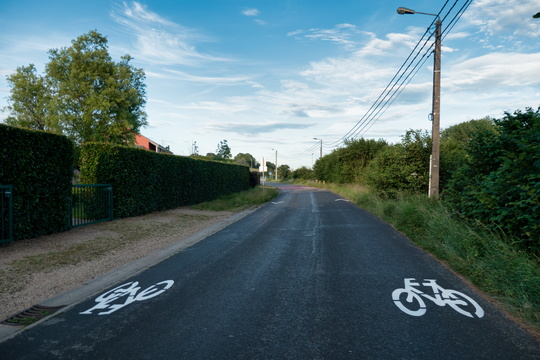 New cycling infrastructure in Barnich