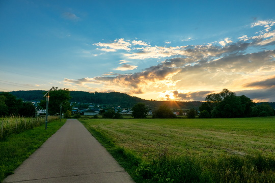 Sunset near Heisdorf