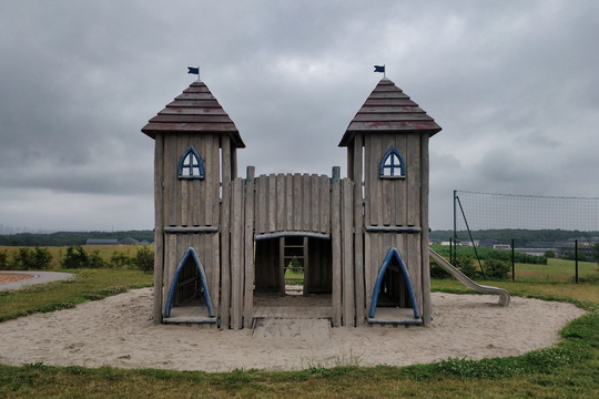 A castle in the playground