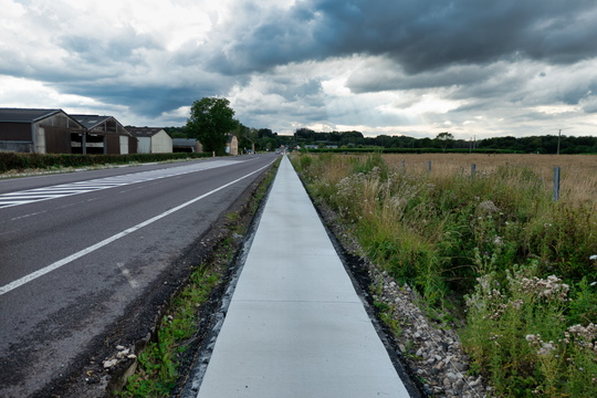 New cycling infrastructure near Arlon