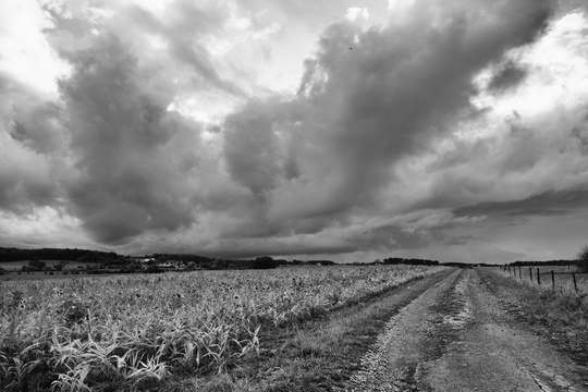 Dramatic sky near Kehlen
