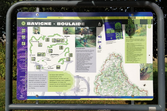 Mountain bike tour 12 map and information board