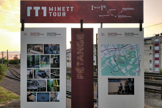 Minett Tour map/information board