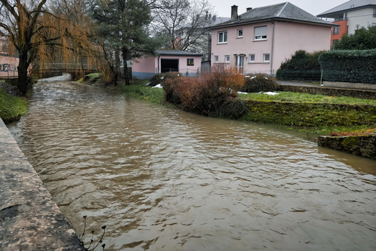 High water level in the Pétrusse