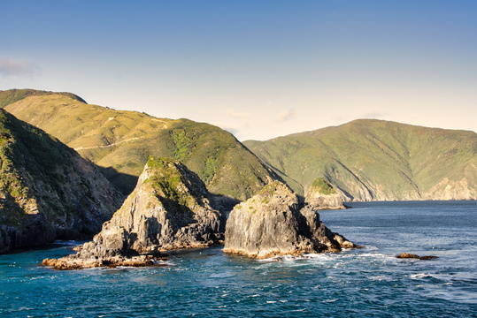 Coast view from Cook Strait
