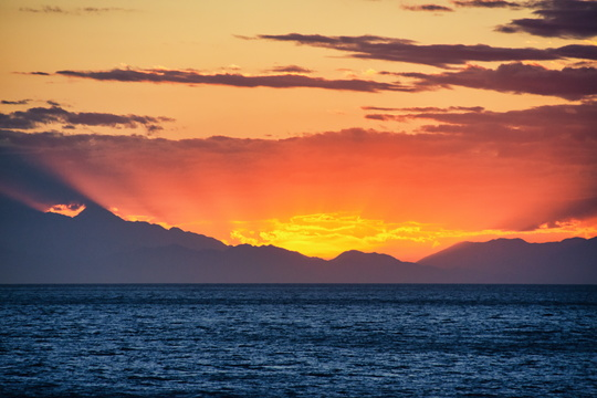 Sunset in Cook Strait