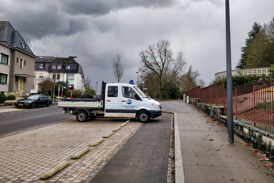 Van parked like a cunt