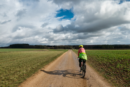 Cycling to Kehlen